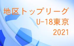 2021年度地区トップリーグU-18東京 7/28結果掲載!次節7/29.30