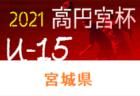2021年度 高円宮杯 宮城県リーグU-18(Mリーグ) 1部の組合せ・日程情報更新!1部は5/16開催