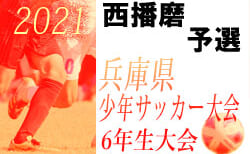 2021年度 第54回兵庫県少年サッカー大会6年生大会 西播磨予選 優勝は龍野JSC!
