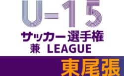 2021年度 東尾張U-15リーグ 兼 東尾張ユースU-15サッカー選手権クラブチーム予選(愛知)結果情報をお寄せいただきました!引き続き大会情報をお待ちしています!
