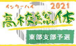 速報!2021年度 学校総体 兼 全国高校総体 (インハイ)サッカー 埼玉県 東部支部予選 県大会進出6チーム速報!