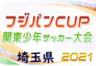 2021年度 第45回関東少年サッカー大会 埼玉県大会 東部地区 県大会出場4チーム決定!