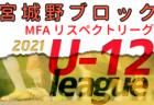 2021年度 MFA U-12 リスペクトリーグ 宮城野ブロック (宮城) 組合せ・日程情報お待ちしています!