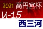2021年度 高円宮杯U-15リーグ東三河(愛知)日程情報募集!