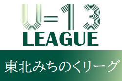 2021年度 東北みちのくリーグU-13  次回5/15開催!