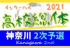 速報!2021年度 全国高校総体 (インターハイ) 神奈川県 2次予選 東海大相模・横浜創英・湘南工科・相洋がベスト4進出!! 6/13準々決勝全結果更新!全国をかけた準決勝は6/19、決勝は6/20開催!