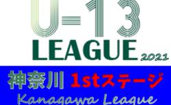 2021年度 神奈川県U-13サッカーリーグ 1stステージ 8/4までの1~4部結果更新!次は8/8他開催予定!結果入力ありがとうございます!!