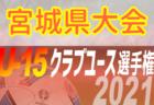 2021年度 第36回 日本クラブユースサッカー選手権 U-15 宮城県大会 代表8チーム決定!