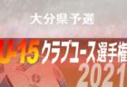 2021年度 第36回九州クラブユースU-15サッカー選手権大会 大分県予選 6/19結果掲載