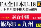 【5/4 準決勝,決勝LIVE配信決定!】JFA第8回全日本 U-18 フットサル大会福岡県大会