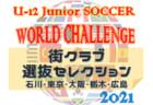 U-12ジュニアサッカーワールドチャレンジ2021 街クラブ選抜セレクション 最終選考結果掲載!本大会は1/3~6に大阪府にて開催予定!
