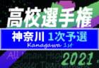 速報!2021年度 全国高校サッカー選手権 神奈川県1次予選 2次予選進出9校決定!! 7/28ブロック決勝結果更新!情報ありがとうございます!