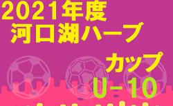 2021年度 河口湖ハーブカップU-10(山梨)優勝はフォルトゥナU-12!決勝トーナメント結果募集
