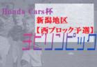 2021年度 新潟県Honda Cars杯第29回新潟県U-11サッカー大会 中越地区【長岡ブロック予選】 上位2チームが県大会進出!結果詳細情報は引き続きお待ちしております