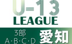 2021年度 愛知県U-13サッカーリーグ3部 A~Dブロック10/23,24結果更新!次回10/30,31