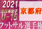 2021年度 第4回カマラーダフェスティバル U-10 (奈良県) 大会中止!