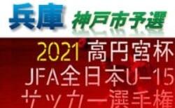 2021年度 第55回兵庫県中学生サッカー選手権大会 神戸市予選 8/28〜開催!組み合わせ掲載