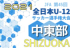 2021年度 第45回全日本U-12サッカー選手権 静岡県大会  中部支部予選   日程&組み合わせ情報をお待ちしています!