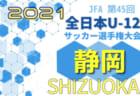 2021年度 第45回全日本U-12サッカー選手権 静岡東部支部予選   地区予選情報も募集中!10/30,31