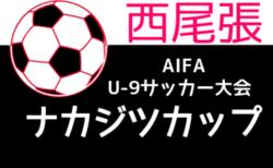 2021年度 ナカジツカップ 第2回U-9サッカー大会 西尾張地区大会(愛知)10/9,10開催!組み合わせ情報をお待ちしています!