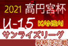 2021年度 高円宮杯JFA U-15サッカーリーグ2022関西 サンライズリーグ2部【昇格決定戦】10/23,30開催!組合せ掲載