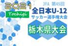 2021年度 JFA全日本U-12サッカー選手権 栃木県大会 地区予選は中止!県大会は県トップリーグ後期参戦16チームで開催!10/17組合せ抽選、10/31~11/7開催予定!