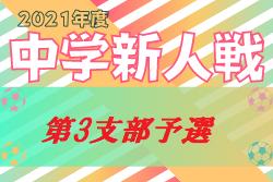 2021年度 第65回東京都【第3支部】中学校サッカー新人戦ブロック大会  杉並、練馬区結果更新!中野区代表チーム掲載
